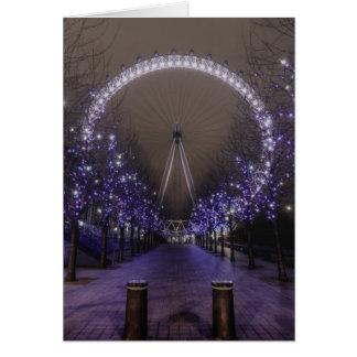 London eye by night card