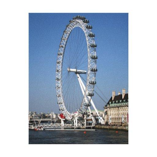 London Eye Stretched Canvas Print