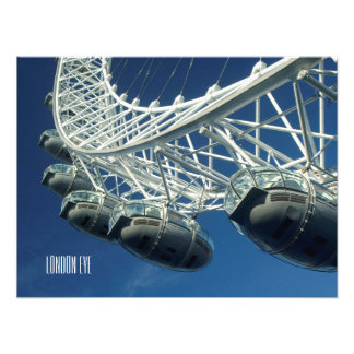 London Eye Ferris Wheel Personalized Photo Print
