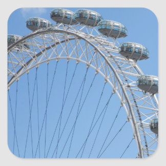 London eye ferris wheel square sticker