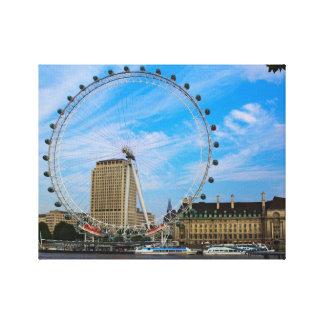 London Eye in London UK Canvas Print