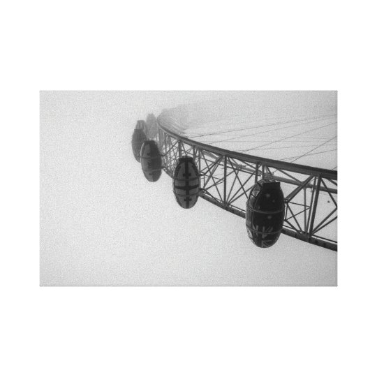 London Eye in Thick Fog Canvas Print