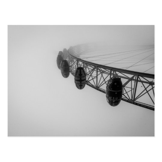 London Eye in Thick Fog Postcard