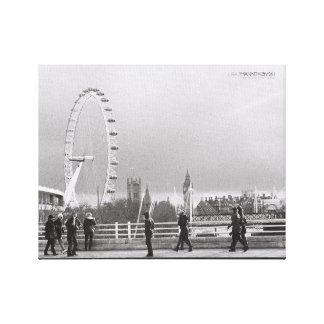"""London Eye on a 14"""" x 11"""", 1.5"""" canvas Canvas Print"""
