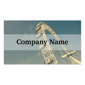 London Eye On A Blue Sky, United Kingdom Pack Of Standard Business Cards