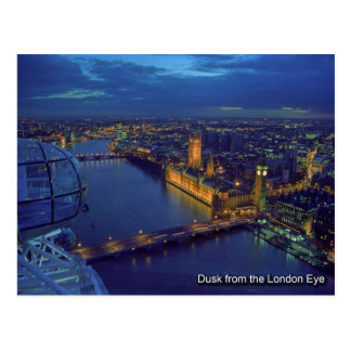london  eye postcard
