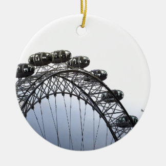 London Eye Round Ceramic Decoration