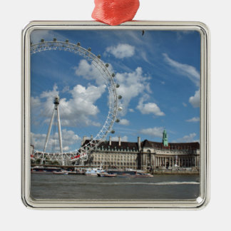 London Eye Silver-Colored Square Decoration