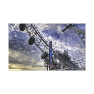 London eye stretched canvas print