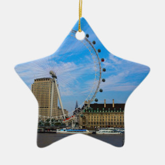 London Eye United Kingdom Christmas Ornament