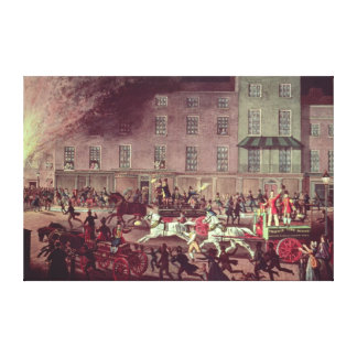 London Fire Engines, engraved by R.G. Reeve Canvas Print