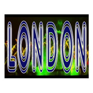 London fireworks celebration on Thames  postcard