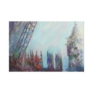 London Fog Stretched Canvas Prints