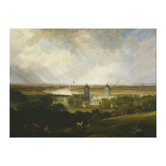 London from Greenwich Park by J M W Turner 1809 Stretched Canvas Print