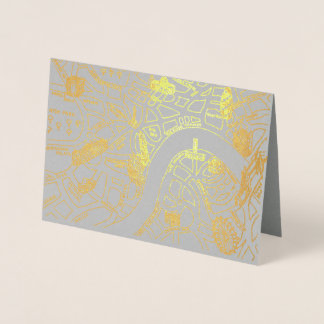 London Gold Foil Card
