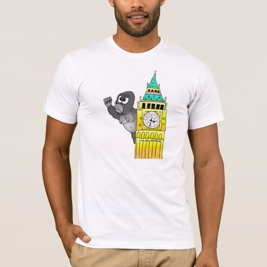 London Gorilla Big Ben Westminster T Shirt