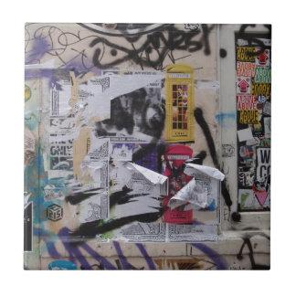 London Graffiti Small Square Tile