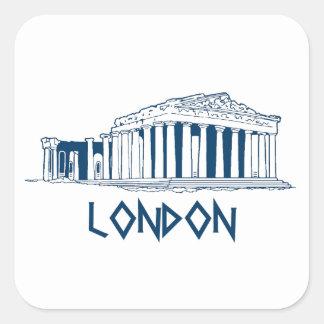 London, Greece Square Sticker