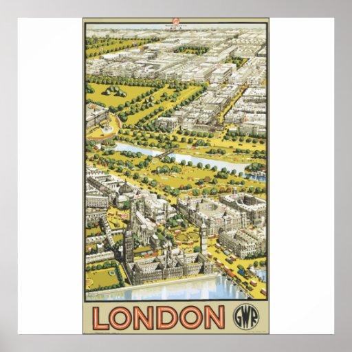 London Gwr, Vintage Poster