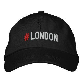 #LONDON Hashtag London Black Cap/hat Embroidered Hat