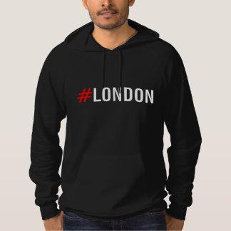 #London Hashtag London Fleece Pullover Hoodie