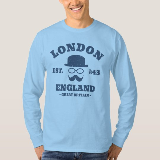 London Hipster Bowler Hat Funny T-Shirt