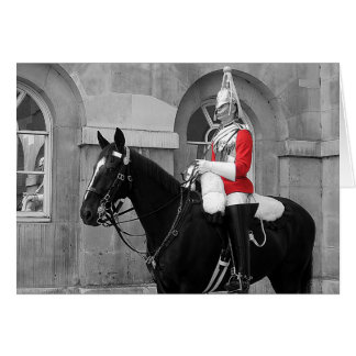 London Horse Guard Greeting Card