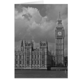London Houses of Parliament & Big Ben Vertical Greeting Card