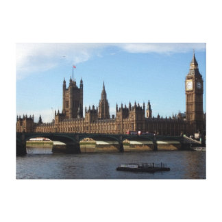 London Houses of Parliament Gallery Wrap Canvas