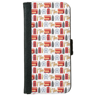 London Icon Collage iPhone 6 Wallet Case