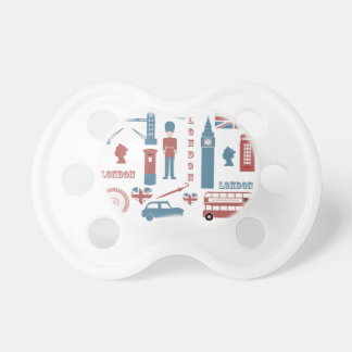 London Icons Retro Love baby pacifier