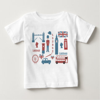 London Icons Retro Love baby white infant t-shirt