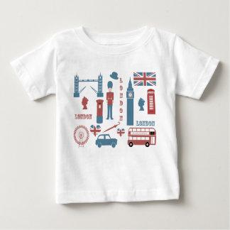 London Icons Retro Love baby white infant t-shirt