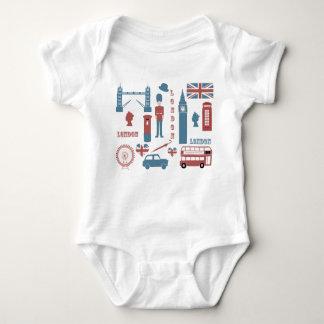 London Icons Retro Love baby's white creeper