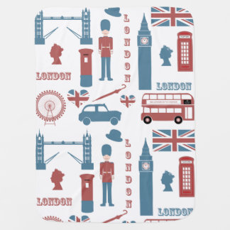 London Icons Retro Love cute baby blanket