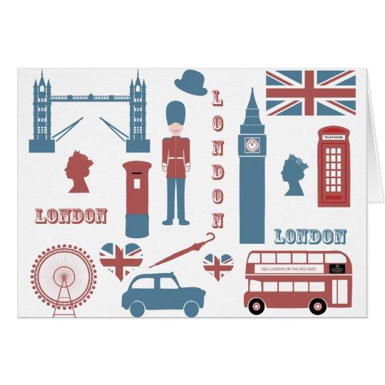 London Icons Retro Love Souvenir blank note card