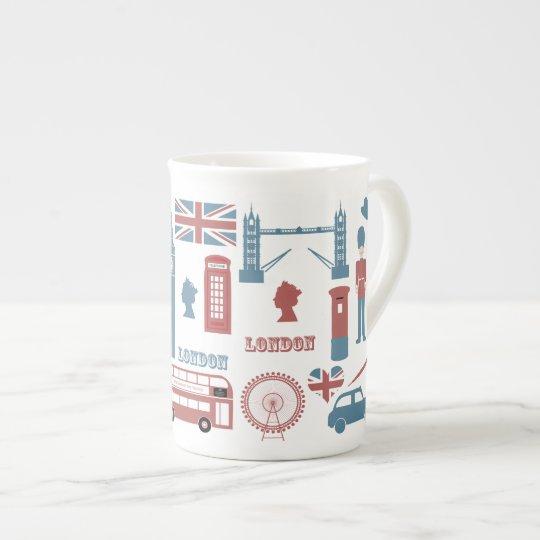 London Icons Retro Love Souvenir bone china mug