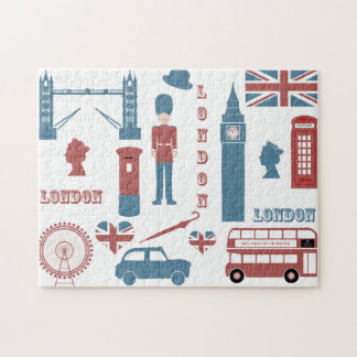 London Icons Retro Love Souvenir jigsaw puzzle