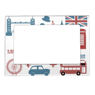 London Icons Retro Love Souvenir magnetic frame