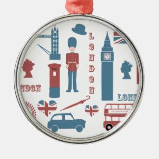 London Icons Retro Love Souvenir round ornament
