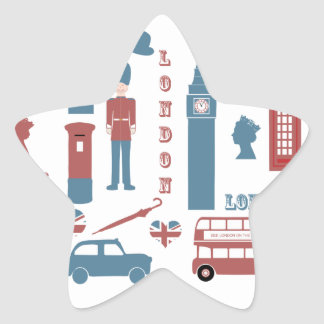 London Icons Retro Love Souvenir star stickers