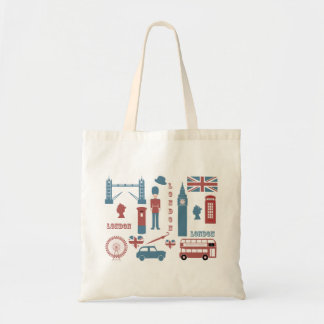 London Icons Retro Love Souvenir tote bag