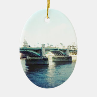London in blue christmas ornament