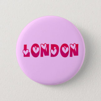 London in Hearts 6 Cm Round Badge