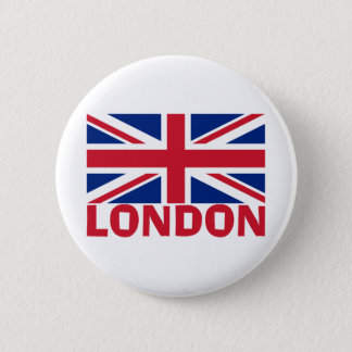 London in Red 6 Cm Round Badge
