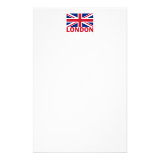 London in Red Personalized Stationery