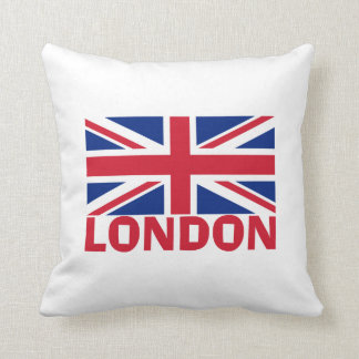 London in Red Throw Pillow