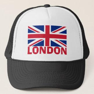 London in Red Trucker Hat