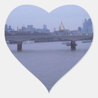 London In Winter Heart Sticker