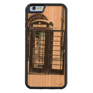 London is calling carved cherry iPhone 6 bumper case